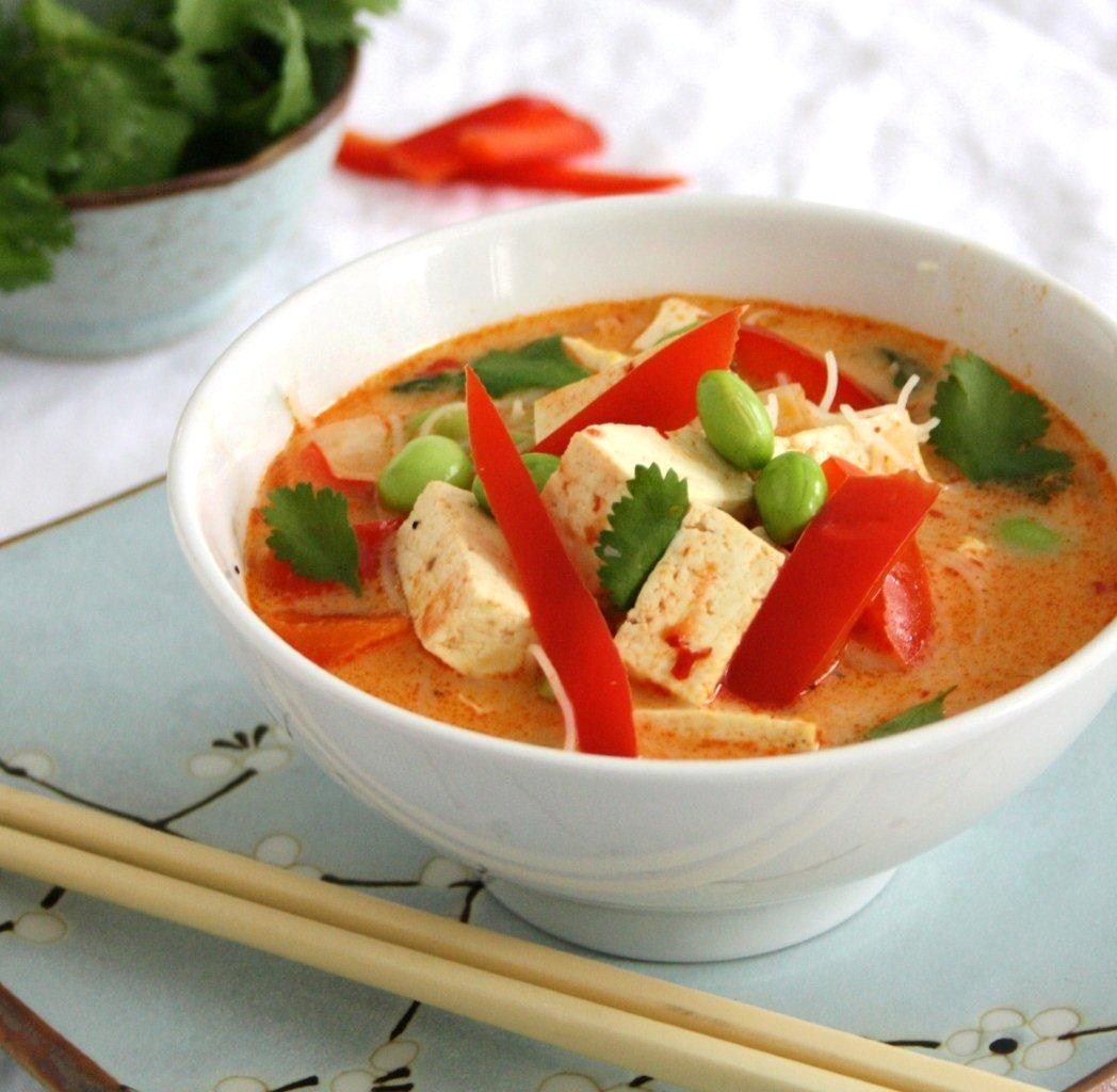 Spicy Thai Coconut Soup with Ginger, Lime and Vermicelli_blog