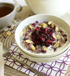 oatmeal blueberry compote