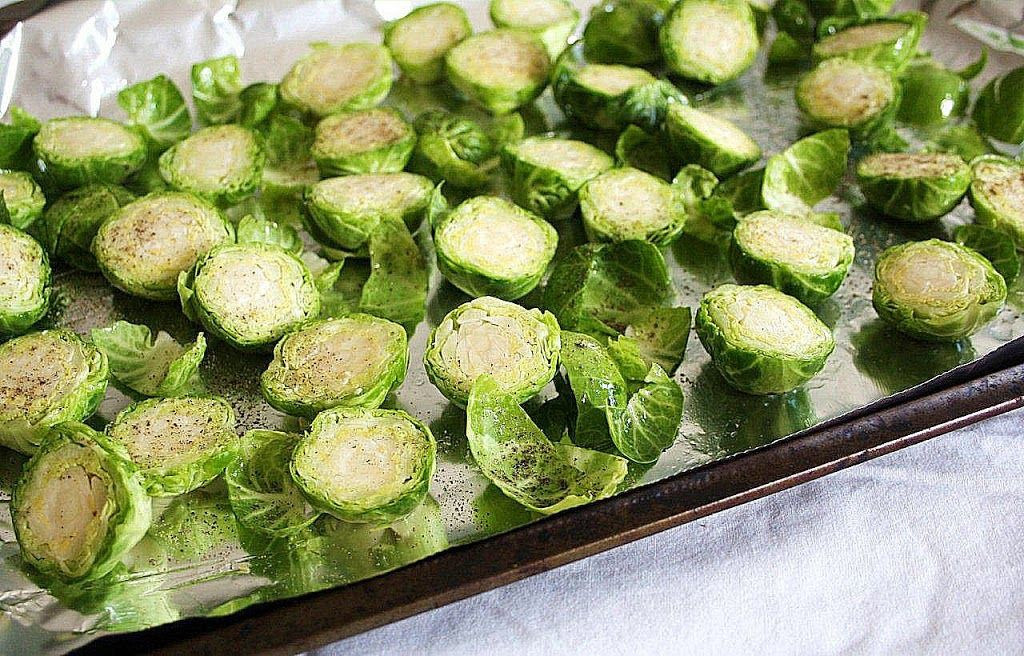 brussels sprouts with pear & gorgonzola