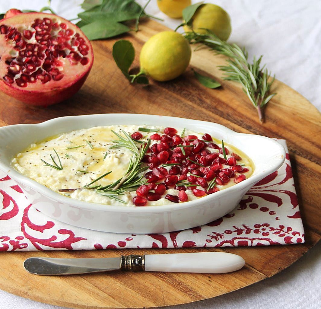baked ricotta with pomegranate_blog_3