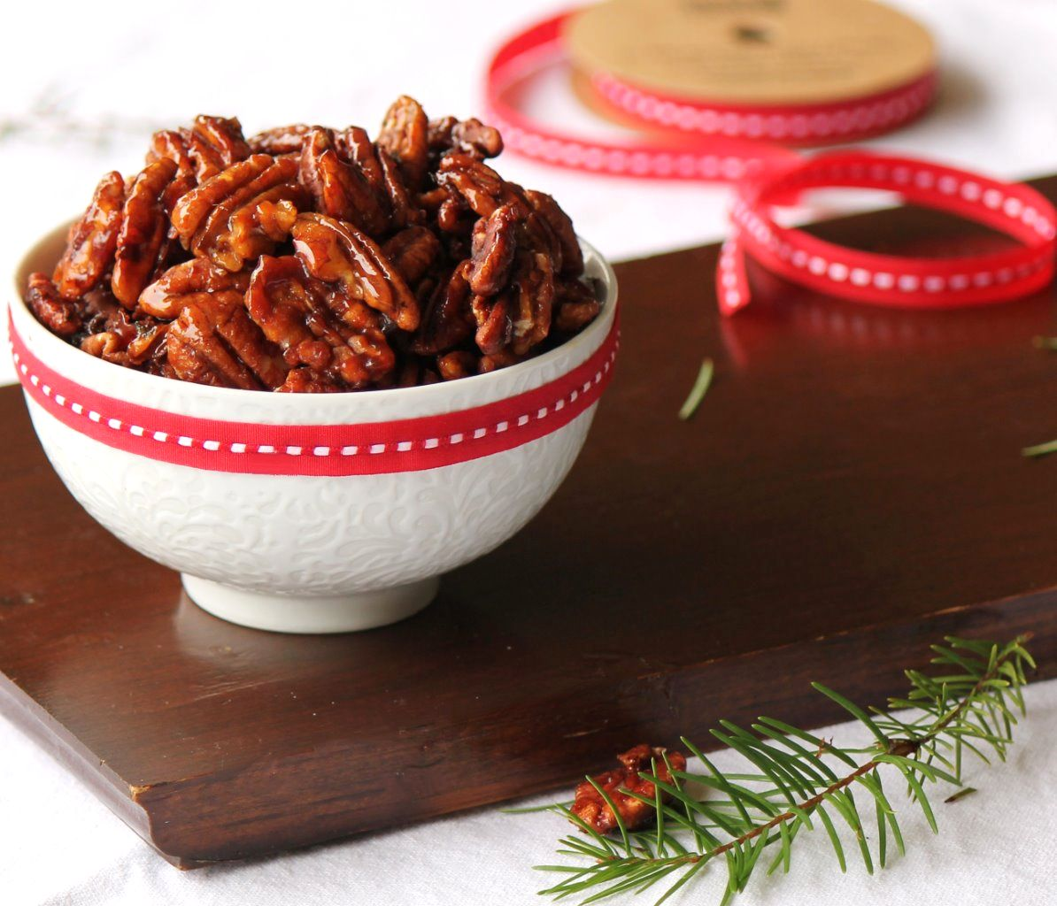 roasted maple sriracha pecans_1
