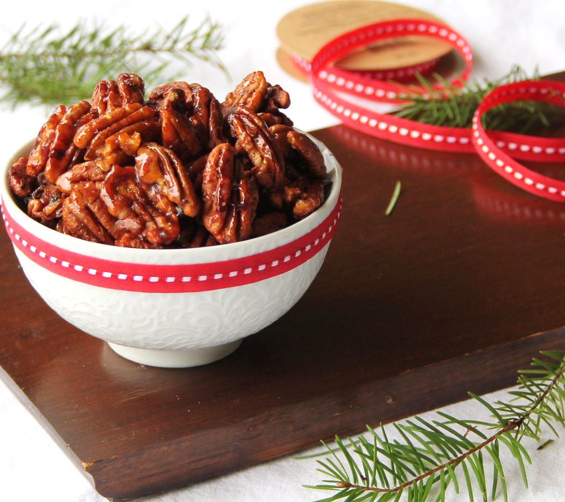roasted maple sriracha pecans_2