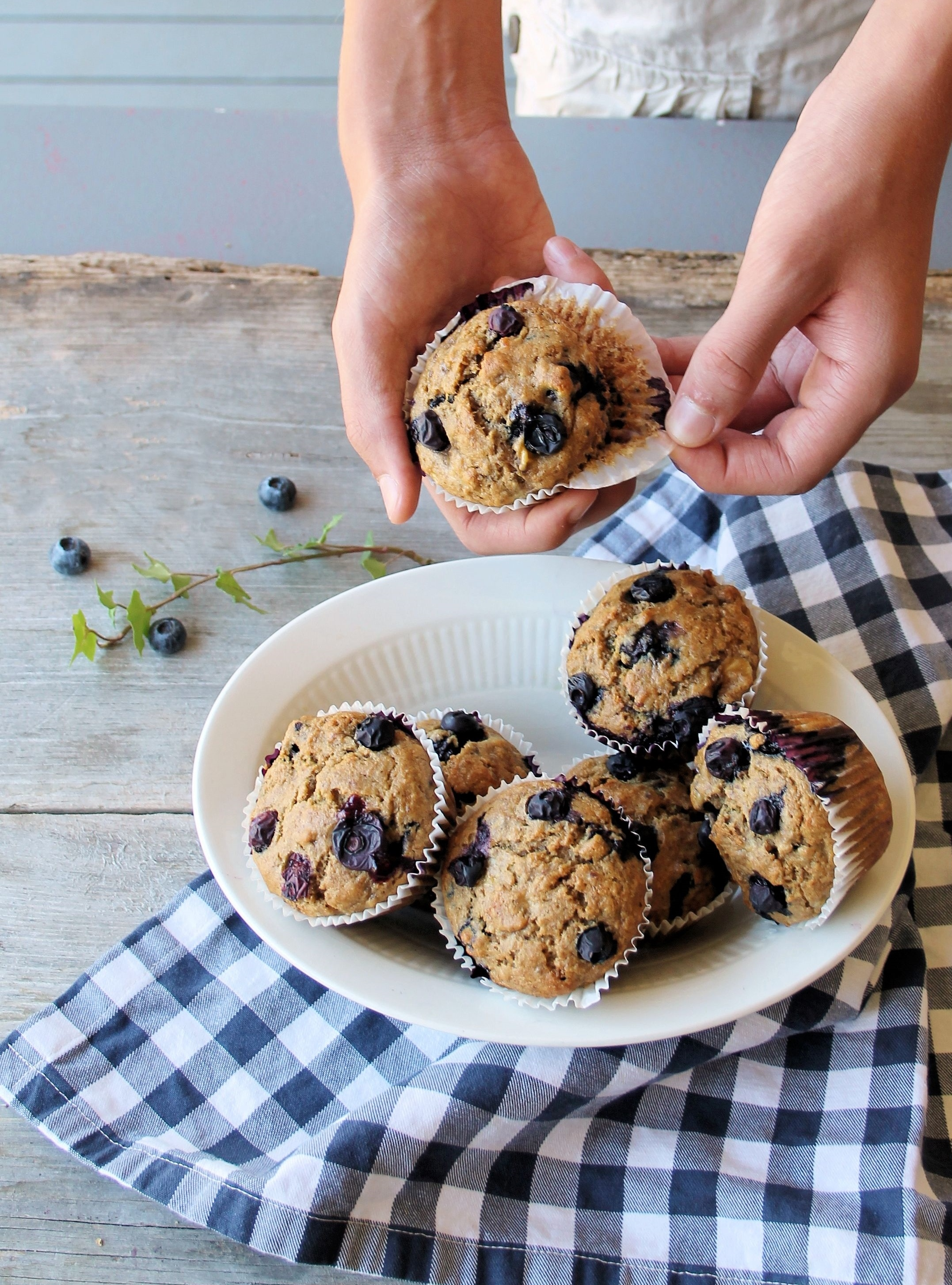 blueberry burst breakfast muffins for back-to-school