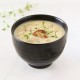 Roasted Garlic & Creamy Potato Soup with Seared Mushroom