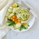 Lemon Basil White Bean Dip with Creamy Cashew