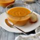 Carrot Ginger Soup with Sweet Potato